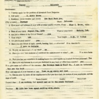 C. Alvie Brown Livestock Loan Inspector Application<br />