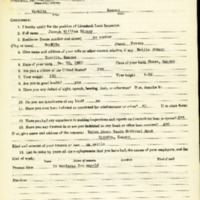 Joseph William Birney Livestock Loan Inspector Application<br />