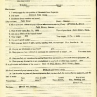William John Brown Livestock Loan Inspector Application<br />