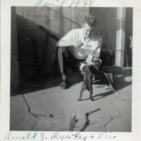 Donald Dye with Dogs<br />