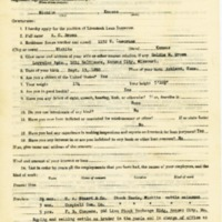 A. C. Brown Livestock Loan Inspector Application<br />