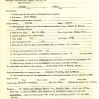 Lewis Benton Livestock Loan Inspector Application